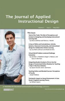 The Journal of Applied Instructional Design
