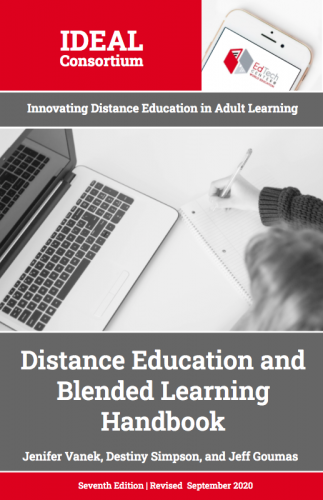 Cover for IDEAL Distance Education and Blended Learning Handbook