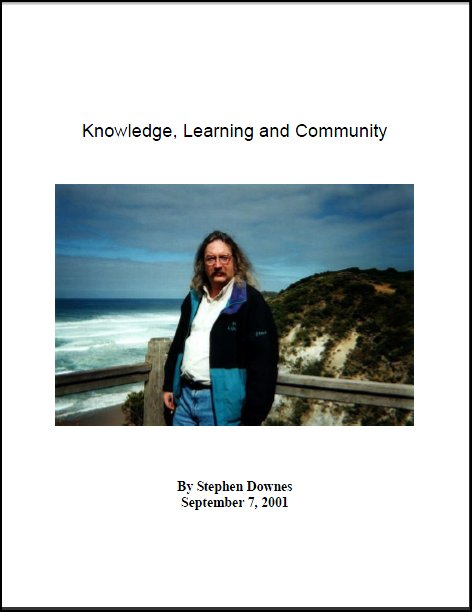 Book cover for Knowledge, Learning and Community