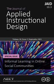 Book cover for The Journal of Applied Instructional Design