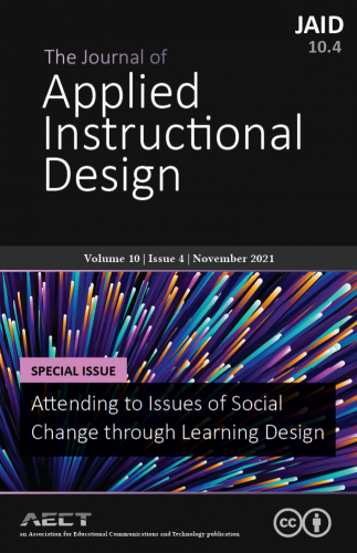 Cover for The Journal of Applied Instructional Design