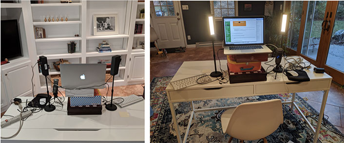 two images showing the front and back of the new setup.
