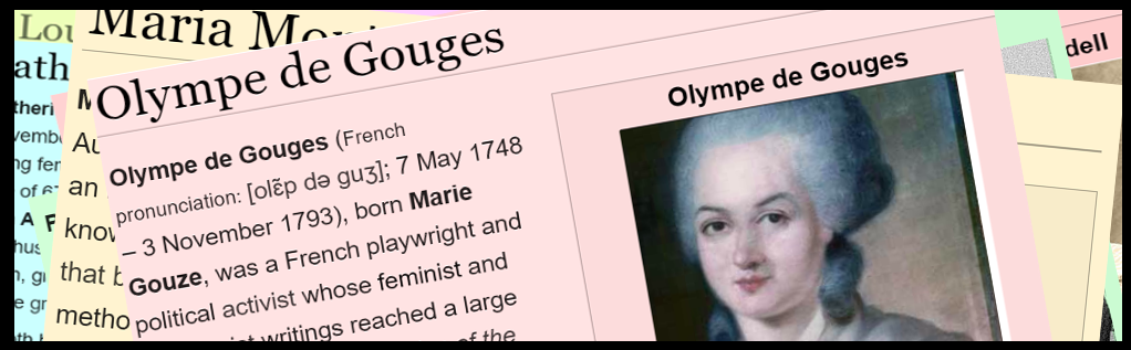 Banner of #wikiwomeninred