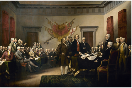 Presenting the Declaration of Independence