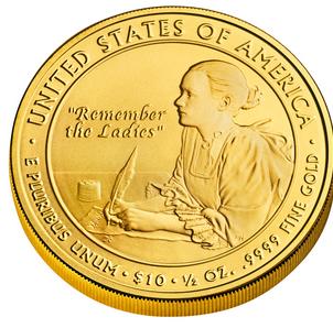 Abigail Adams First Spouse Coin