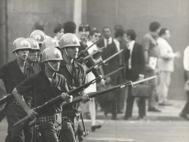 Student demonstration against the Military Dictatorship.