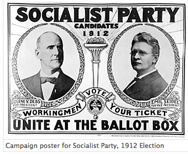 Campaign poster for Socialist Party 1912