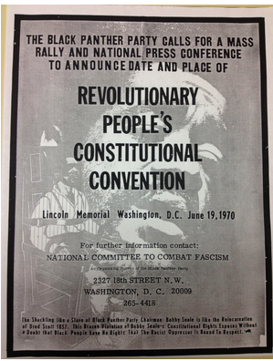 Flyer for a Black Panther Party Rally 1970
