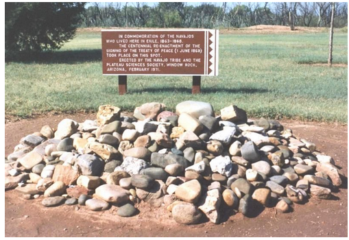 Photo of a marker at Bosque Redondo