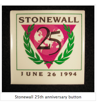 Stonewall 25th anniversary button