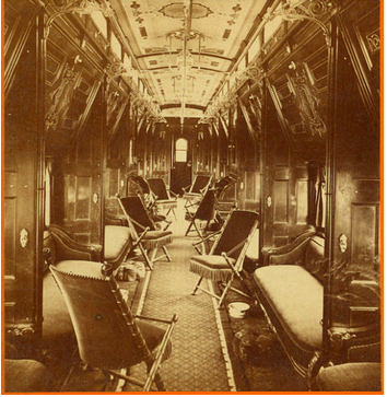 Interior of Pullman Palace Sleeping Car