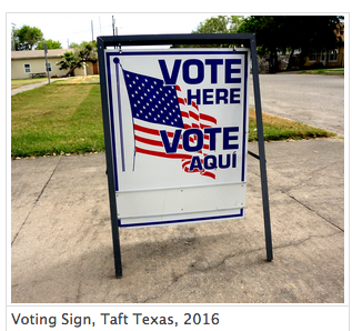 Voting Sign 2016