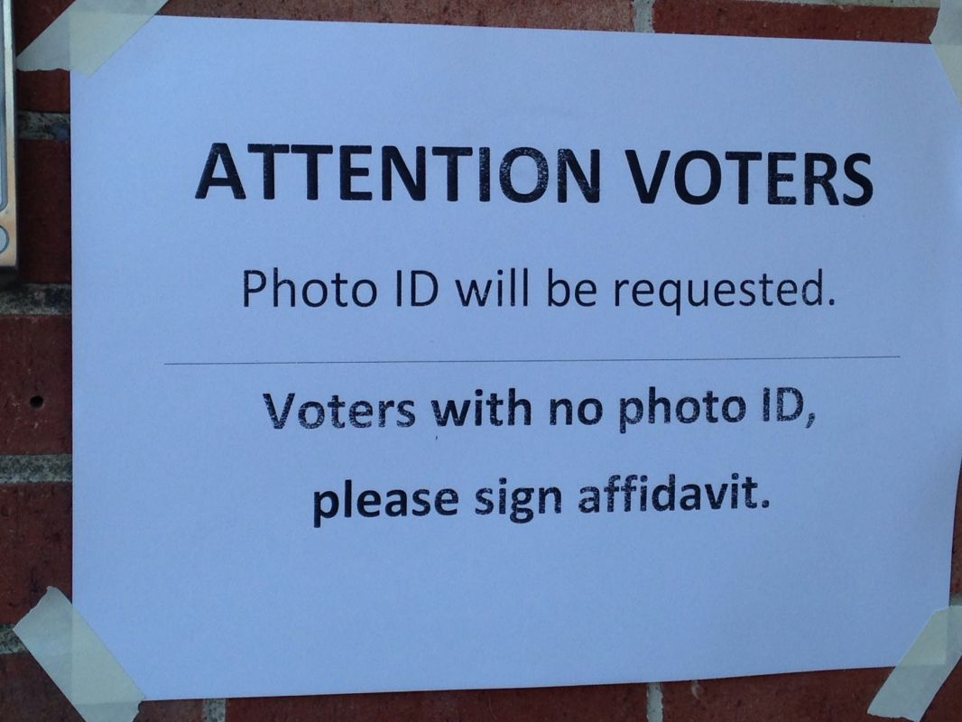 New Hampshire Voting Place Sign 2013