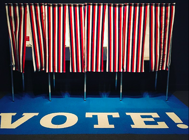 Voting Booths for an American Election
