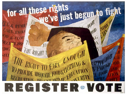 Congress of Industrial Organizations poster by Ben Shahn 1946