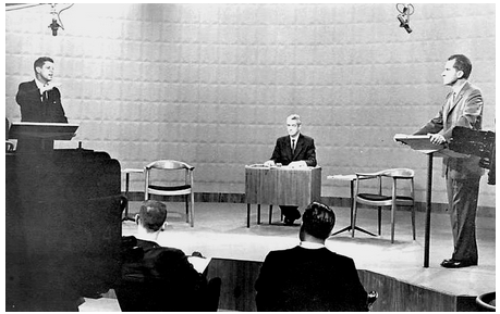 Photo of the first Kennedy Nixon presidential debate