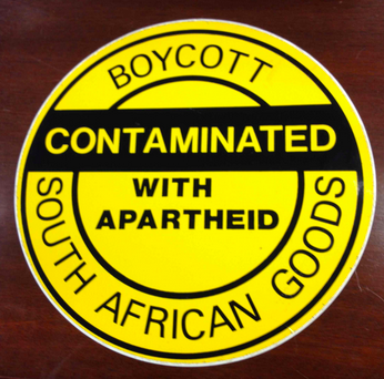 South African Goods Boycott Sign 1986