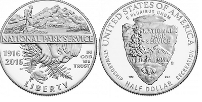 2016 National Park Service Proof Half Dollar