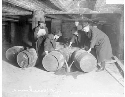 Agents Destroying Alcohol 1921