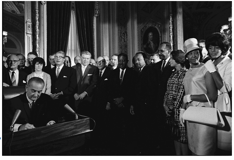 President Lyndon Signs Voting Rights Act