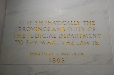 Plaque in the Supreme Court
