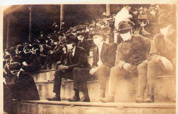 Georgia Tech football game 1918 during Spanish Flu