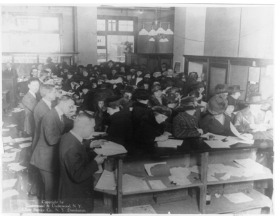 People Filling Tax Forms 1920