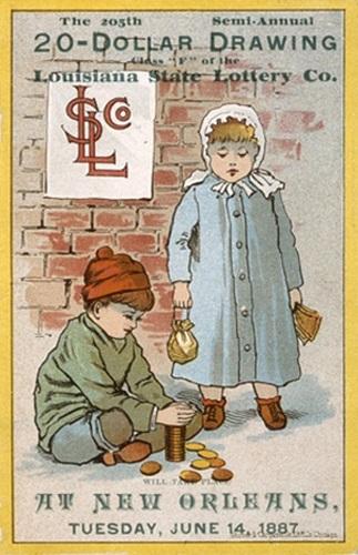Louisiana State Lottery Drawing 1887