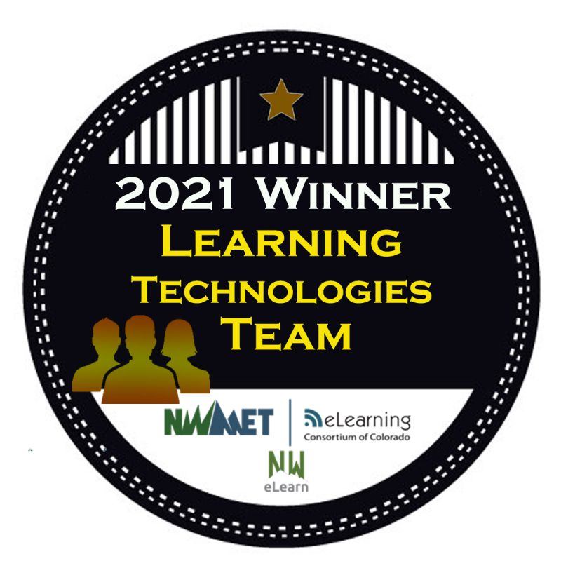 2021 Winner Learning Technologies Team - eLearning Consortium of Colorado