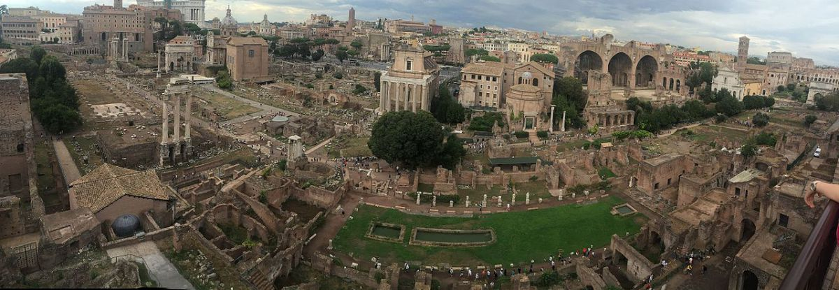 Panoramic view of the Roman Forum