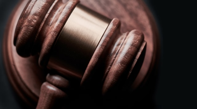 A close up view of a gavel
