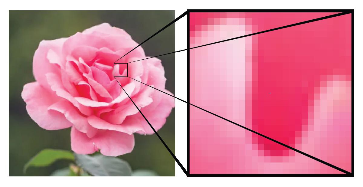 rastered image