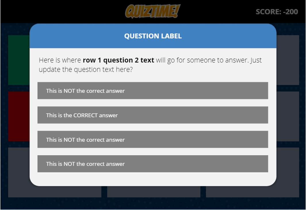 Image of a standard game question.