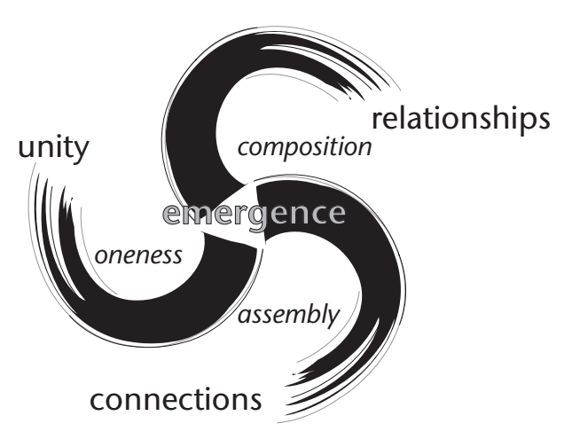 An image of dimensions of emergent wholes.