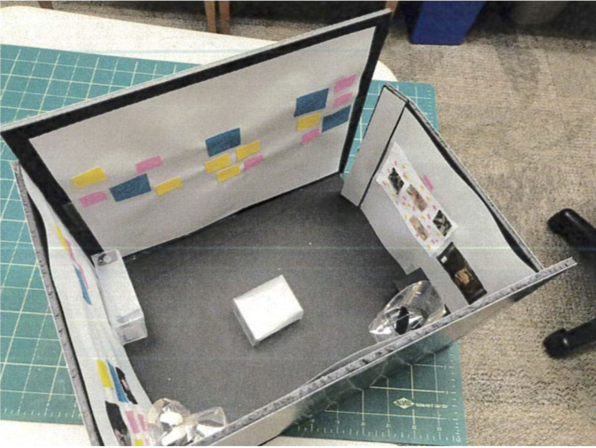 Image of a product build of a mock museum layout.