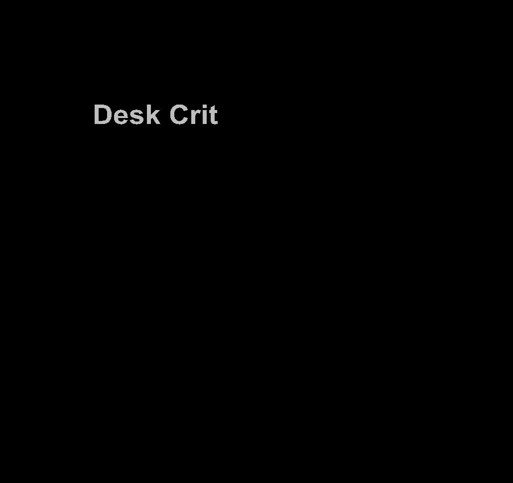 Illustration of Desk Critique set up.