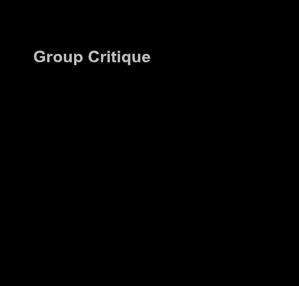 Illustration of Group Critique set up.