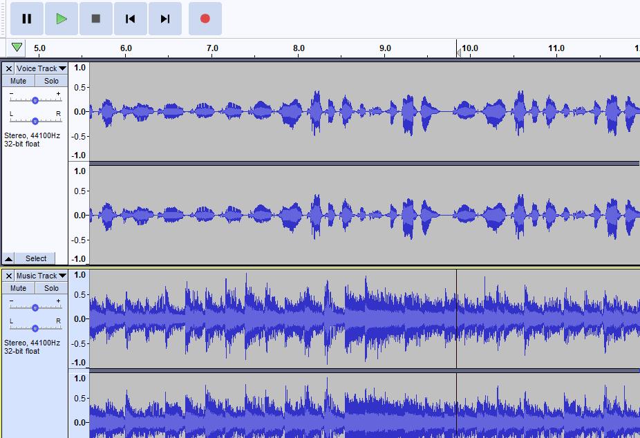 Screenshot of audio tracks on a computer.