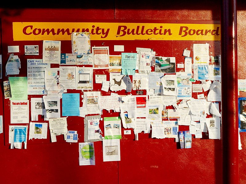 Image of a community bulletin board