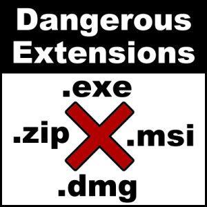 Dangerous extensions