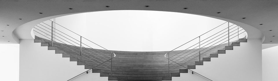 Large staircase in a museum