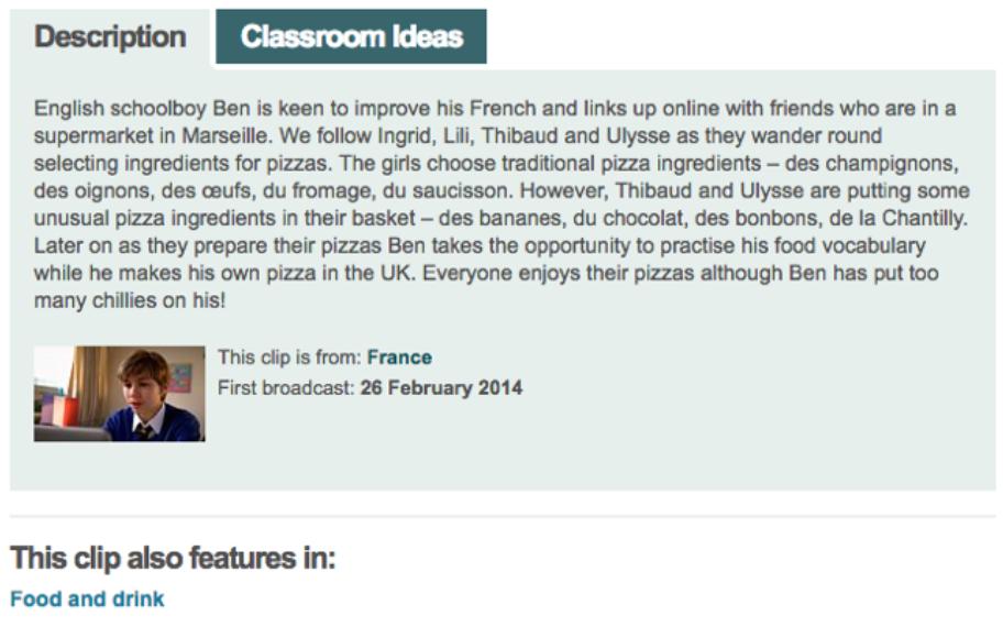 Snapshot of a classroom clip