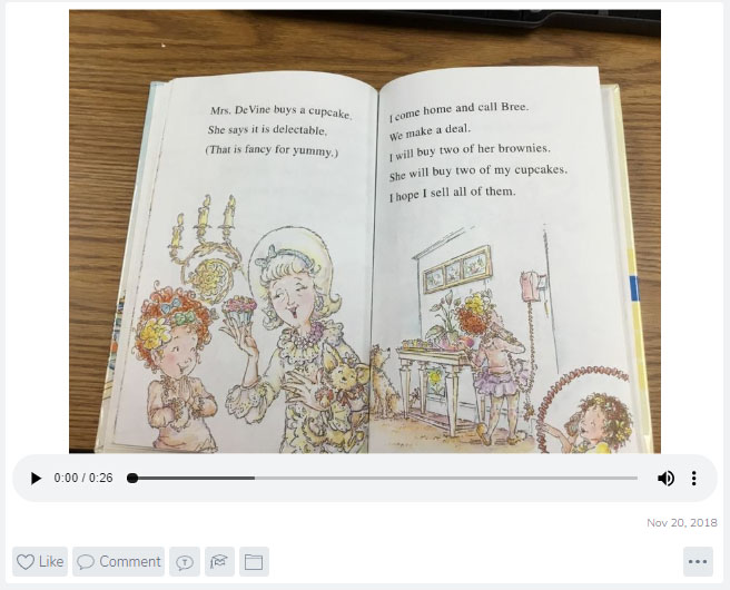 a video recording of a story book