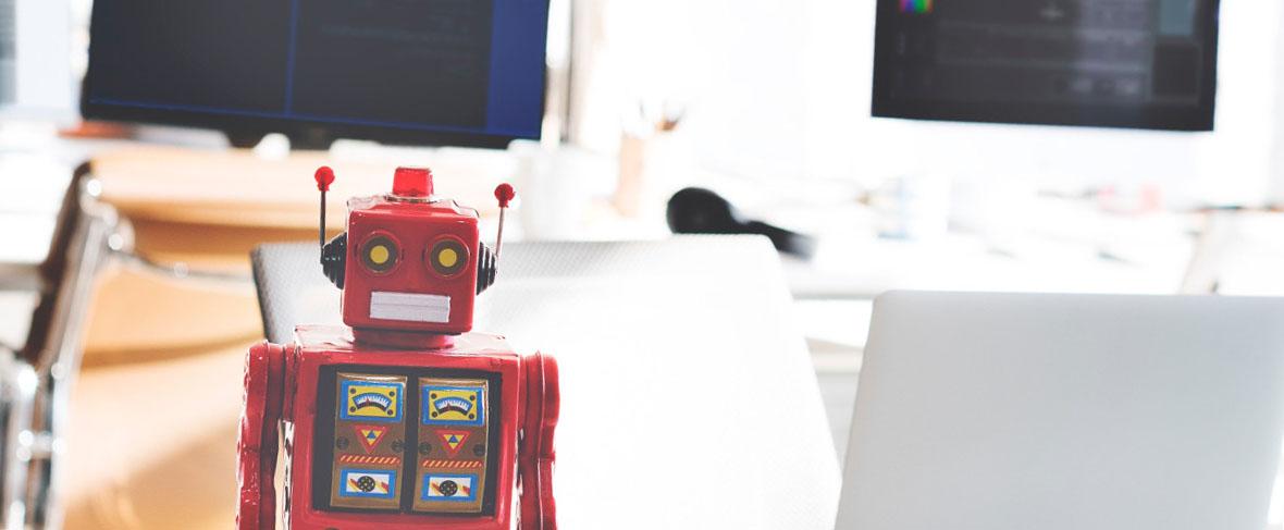 A robot in a classroom