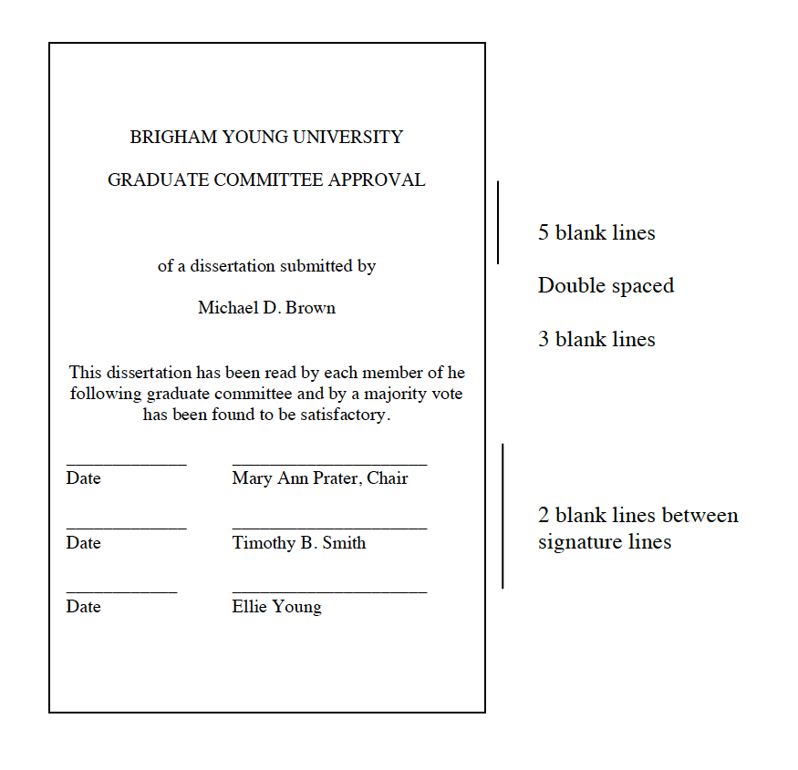 graduate committee approval page