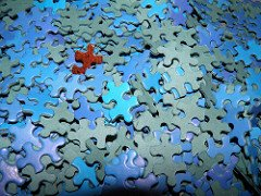 many puzzle pieces