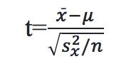 test statistic formula