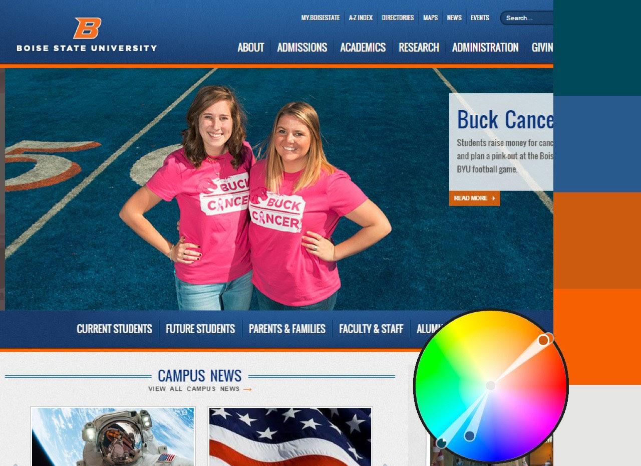 Boise state webpage