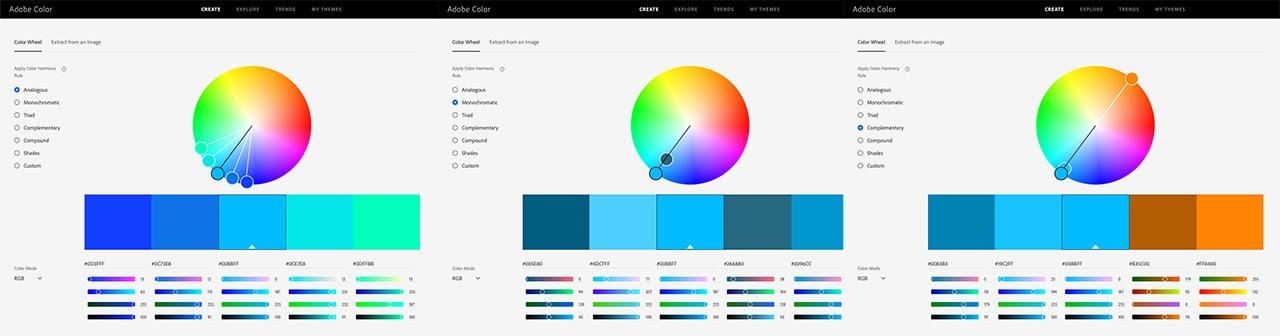 Color scheme types