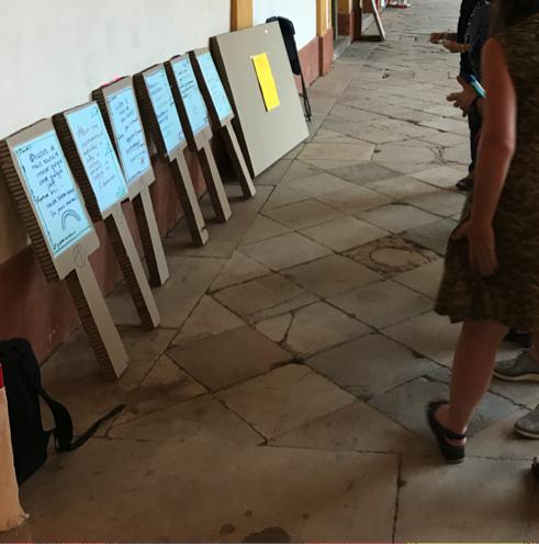 MOOC user testing using cardboard props